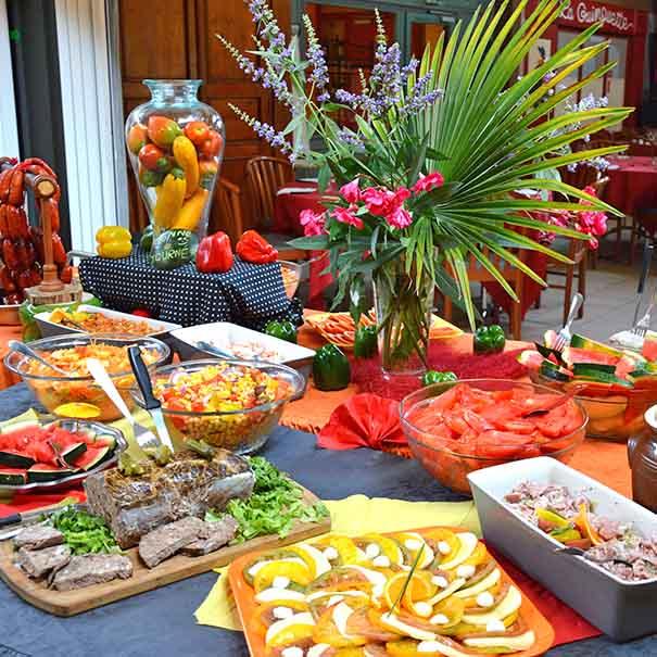 buffet restauration vacances famille d'été