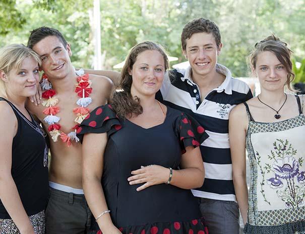 groupe d'adolescents du club ados du relais du moulin neuf lot et garonne