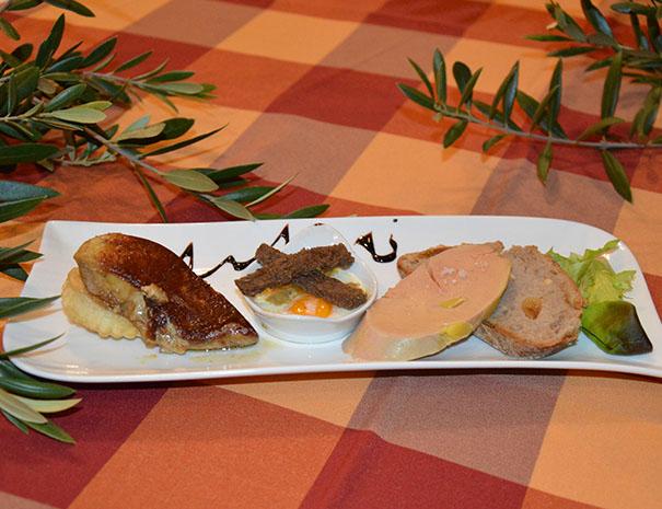 foie gras servi au réveillon du relais du moulin neuf barbaste