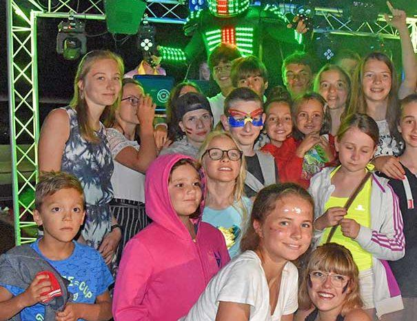 soirée robot vacances en famille l'été au relais du moulin neuf gers