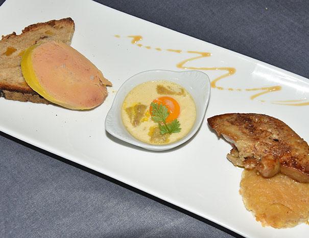 trilogie de foie gras restauration gasconne séminaire relais du moulin neuf