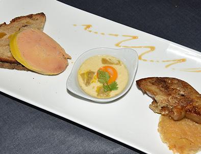 Foie gras réalisé au Relais du Moulin Neuf Barbaste